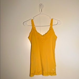 Abercrombie Yellow Lace Camisole Top